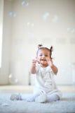 Soap bubble fun Stock Photo