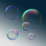 Soap bubble grey black background  vector illustration Stock Image