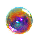 A soap bubble with many colors, colors contrast Stock Photos