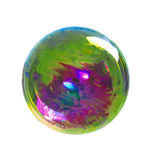A soap bubble with many colors, isolated on white Stock Image