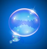 Soap bubble for message. Vector illustration EPS10. Transparent objects and opacity masks used for shadows and lights drawing Royalty Free Stock Photos
