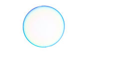 Soap bubble. One soap bubble on a white background Stock Image