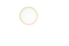 Soap bubble. One soap bubble on a white background Stock Photography
