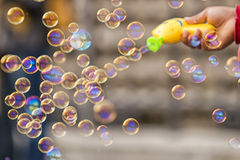 Soap bubble pistol Royalty Free Stock Photo