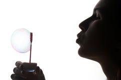 Soap bubble - Seifenblase. Girl with soap bubble - Seifenblase Stock Photo