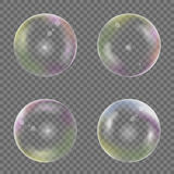 Soap bubble set Stock Images