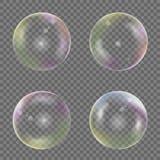 Soap bubble set. Transparent Colored Soap bubble set. Vector illustration vector illustration