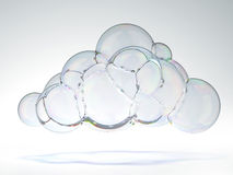 Soap bubble in the shape of a cloud Stock Images