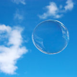 Soap bubble in the sky Royalty Free Stock Images