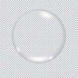 Soap bubble. On transparent background. Glass sphere Royalty Free Stock Photo