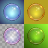 Soap bubble vector template. Royalty Free Stock Image