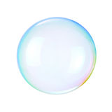 Soap bubble. On a white background Royalty Free Stock Images