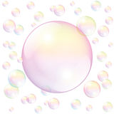 Soap Bubble White Stock Images