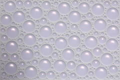 Soap bubbles. On the top of water stock illustration