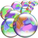 Soap bubbles. This image shows a semi transparent floating bubbles Royalty Free Stock Images