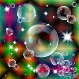 Soap bubbles. On an abstract background royalty free illustration