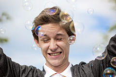 In soap bubbles Royalty Free Stock Photos