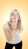 Soap bubbles Royalty Free Stock Photo