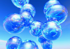 Soap Bubbles. In front of blue sky Royalty Free Stock Images