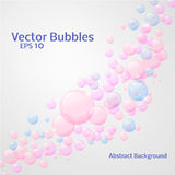 Soap bubbles. Abstact Colourful Vector Bubbles Background for your own design Stock Image