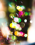 Soap bubbles, abstract background Stock Images