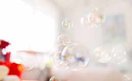 Soap bubbles, abstract background Royalty Free Stock Photography