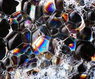 Soap bubbles abstract colorful macro structure Stock Image