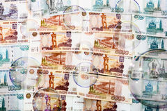 SOAP bubbles against a backdrop of us banknotes Stock Photos