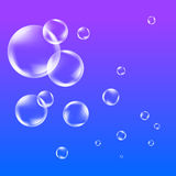 Soap bubbles background. Flying in the sky snow bubbles illustration Stock Photography