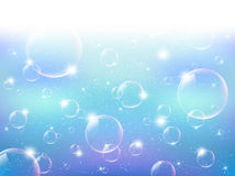 Soap bubbles. Background illustration of beautiful soap bubbles vector illustration
