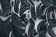 Soap bubbles background- texture liquid. Drops- liquid foam. Fluid aqua- pattern nature. Background- cleansing wash. Shampoo bubbles- soapy water stock illustration