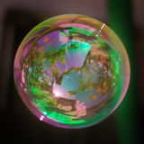 Soap bubbles. On a black background Royalty Free Stock Photography