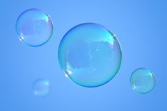 Soap bubbles on the blue sky Stock Image
