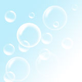 Soap Bubbles on a blue sky background Stock Image