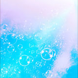 Soap Bubbles on a blue sky background Stock Images