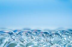 Soap bubbles. Close-up shot of blue soap bubbles Stock Photo