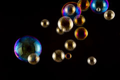 Soap bubbles closeup studio shot Royalty Free Stock Photography