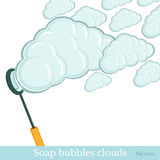 Soap bubbles clouds background Royalty Free Stock Photos