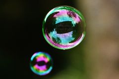 Soap Bubbles, Colorful, Balls Royalty Free Stock Photography
