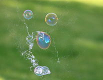 Soap Bubbles. These are colorful soap bubbles in the midst of popping Stock Images