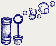 Soap bubbles. Doodle style. Vector royalty free illustration