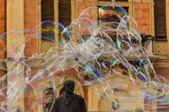 Soap bubbles entertainment and monument