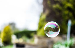 Soap bubbles. The soap bubbles flew on the air Stock Photo