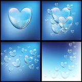 Soap bubbles in the form of heart Stock Photos