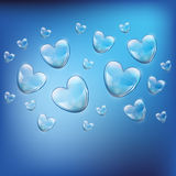 Soap bubbles in the form of heart Royalty Free Stock Images