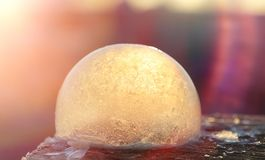 Soap bubbles freeze in the cold. Winter soapy water freezes in t. Soap bubbles freeze in the cold. Winter soapy water freezes in air.r Royalty Free Stock Image