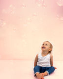 Soap bubbles fun Royalty Free Stock Images