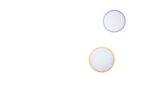 Soap bubbles. Group of soap bubbles on a white background Stock Image