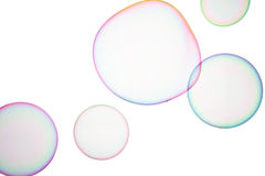 Soap bubbles. Group of soap bubbles on a white background Royalty Free Stock Photography