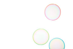 Soap bubbles. Group of soap bubbles on a white background Royalty Free Stock Images